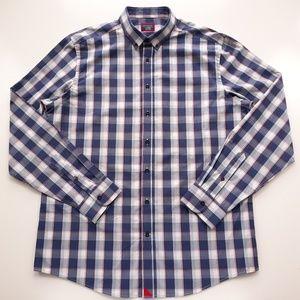 UNTUCKit Mens Sz XLT Plaid Multicolor Shirt